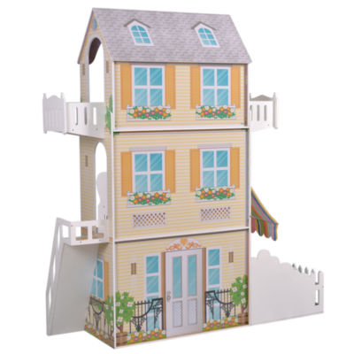 Teamson Kids - Garden View Estate Doll House for 18 Inch Dolls