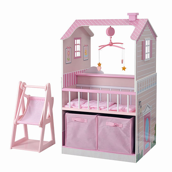 Teamson Kids - All in One Baby Doll Nursery Station for 18 Inch Dolls