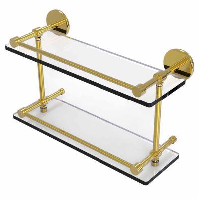 Allied Brass 16 IN Tempered Double Glass Shelf With Gallery Rail