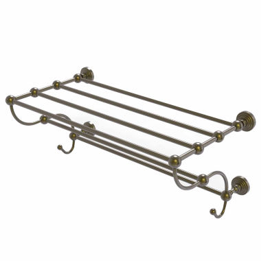 Allied Brass Prestige Que New Collection 24 Inch Towel Bar With Integrated Hooks