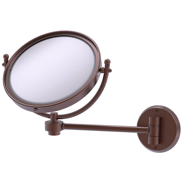 Allied Brass Tribecca Collection Wall Mounted Make-Up Mirror 8 Inch Diameter With 5X Magnification