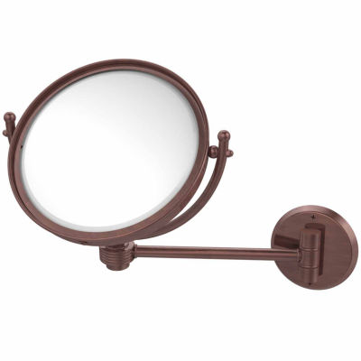 Allied Brass 8 Inch Wall Mounted Make-Up Mirror 3XMagnification