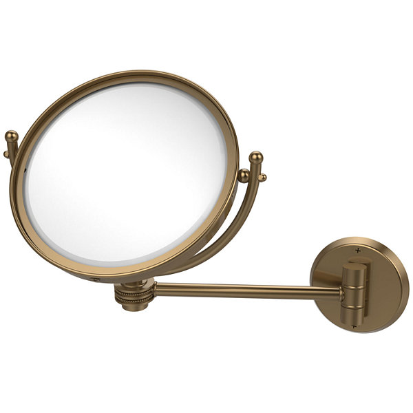 Allied Brass 8 Inch Wall Mounted Make-Up Mirror 5XMagnification