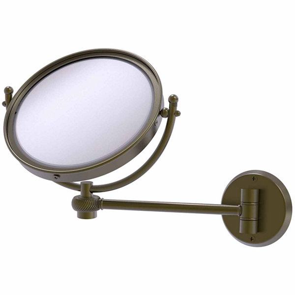 Allied Brass 8 Inch Wall Mounted Make-Up Mirror 2XMagnification