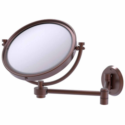 Allied Brass Tribecca Collection Wall Mounted Make-Up Mirror 8 Inch Diameter With 4X Magnification