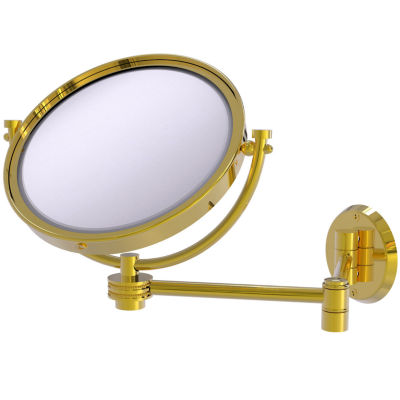 Allied Brass 8 Inch Wall Mounted Extending Make-UpMirror 2X Magnification With Twist Accent