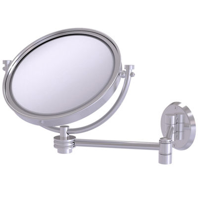 Allied Brass 8 Inch Wall Mounted Extending Make-UpMirror 5X Magnification With Dotted Accent