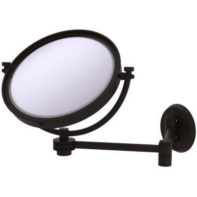 Allied Brass 8 Inch Wall Mounted Extending Make-UpMirror 4X Magnification With Dotted Accent