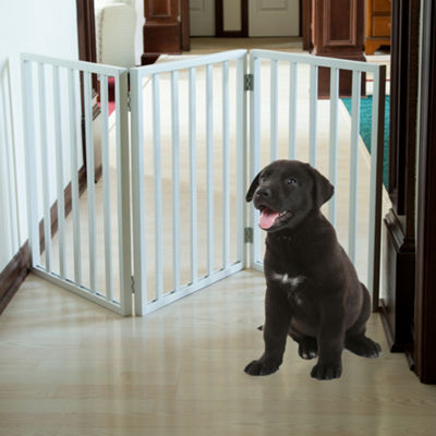 Petmaker Freestanding Wooden Pet Gate in White