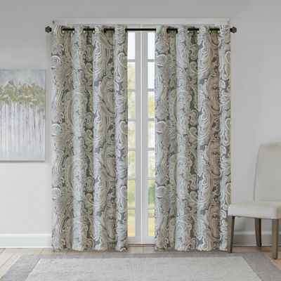 Madison Park Dermot Grommet Top Grommet-Top Curtain Panel