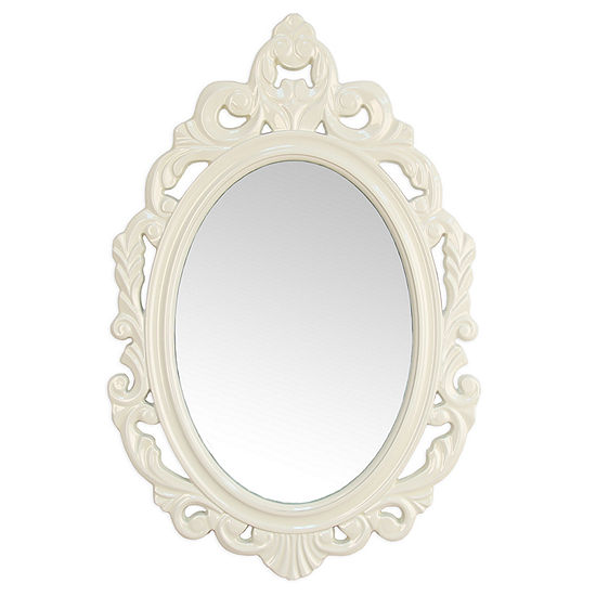 Stratton Home Decor White Baroque Wall Mirror
