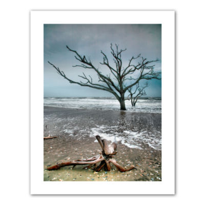 Brushstone Trees In Surf Canvas Poster Wall Art