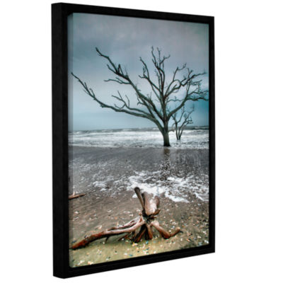 Brushstone Trees In Surf Gallery Wrapped Floater-Framed Canvas Wall Art