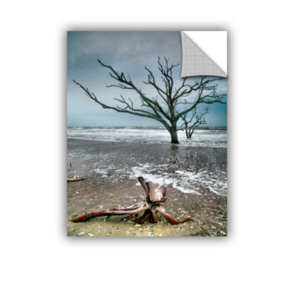 Brushstone Trees In Surf Removable Wall Decal
