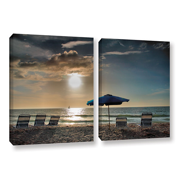 Brushstone Tropical Ease 2-pc. Gallery Wrapped Canvas Wall Art