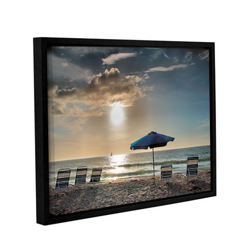 Brushstone Tropical Ease Gallery Wrapped Floater-Framed Canvas Wall Art