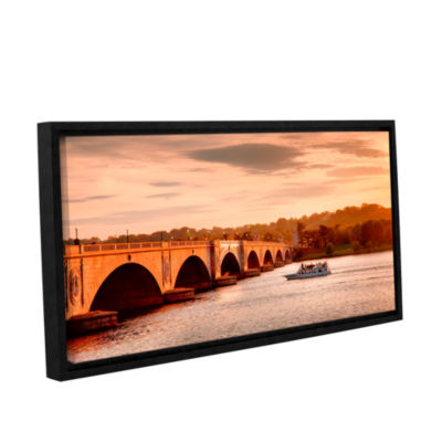 Brushstone River Cruise at Sunset Gallery WrappedFloater-Framed Canvas Wall Art