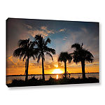 Brushstone Tropical Sunset Gallery Wrapped CanvasWall Art