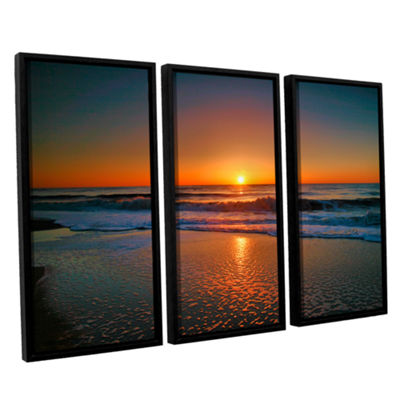 Brushstone Morning Has Broken II 3-pc. Floater Framed Canvas Wall Art