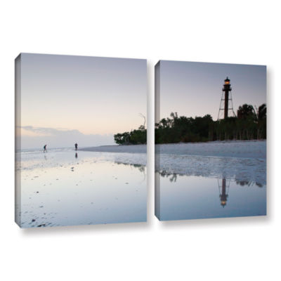 Brushstone Sanibel Lighthouse 2-pc. Gallery Wrapped Canvas Wall Art
