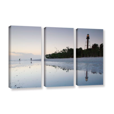 Brushstone Sanibel Lighthouse 3-pc. Gallery Wrapped Canvas Wall Art