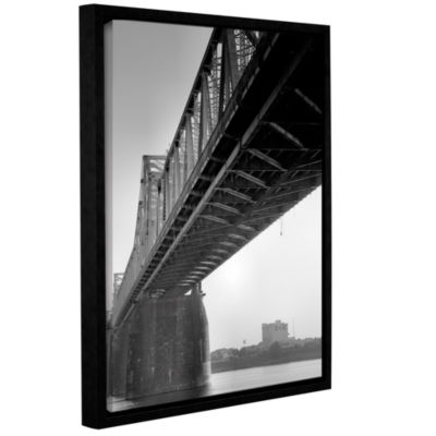 Brushstone Under the Bridge Gallery Wrapped Floater-Framed Canvas Wall Art