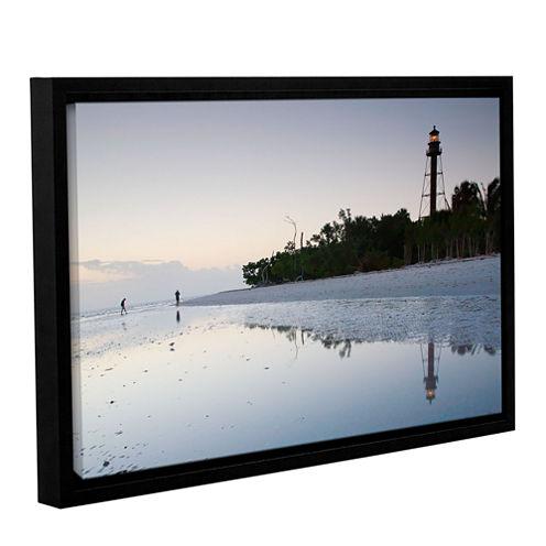 Brushstone Sanibel Lighthouse Gallery Wrapped Floater-Framed Canvas Wall Art