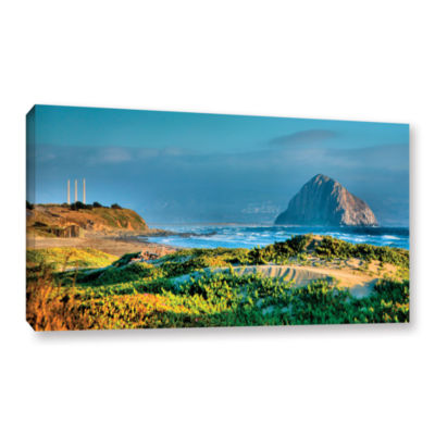 Brushstone Morro Rock and Beach Gallery Wrapped Canvas Wall Art