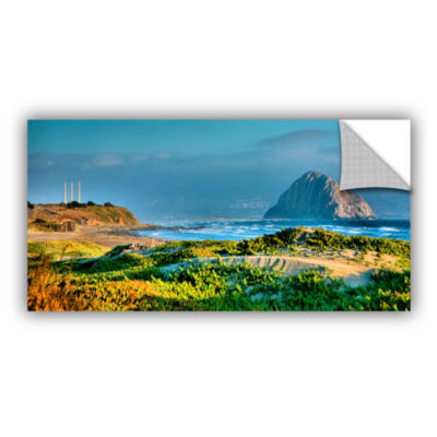 Brushstone Morro Rock and Beach Removable Wall Decal