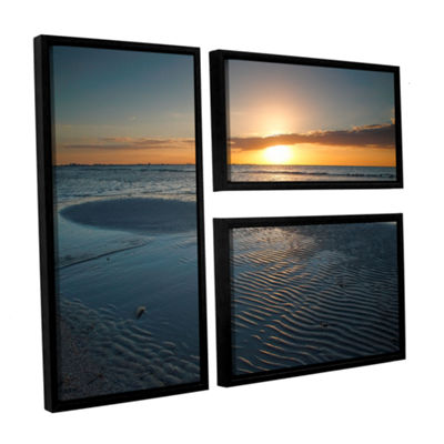 Brushstone Sanibel Sunrise II 3-pc. Flag Floater Framed Canvas Wall Art
