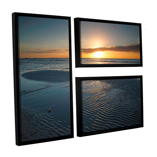 Brushstone Sanibel Sunrise Ii 3 Pc Flag Floater Framed Canvas Wall Art