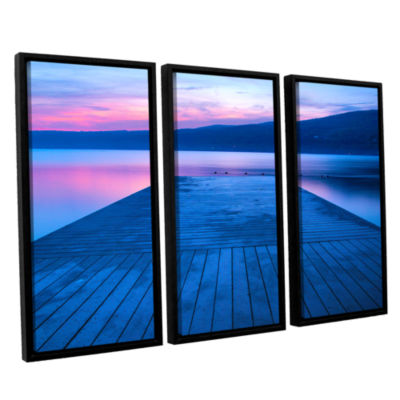 Brushstone Waiting for Dawn 3-pc. Floater Framed Canvas Wall Art