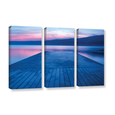 Brushstone Waiting for Dawn 3-pc. Gallery WrappedCanvas Wall Art