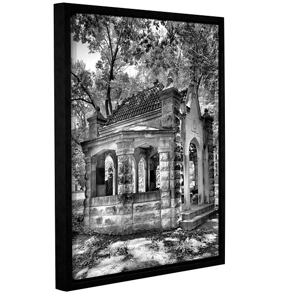 Brushstone Old Well House Gallery Wrapped Floater-Framed Canvas Wall Art