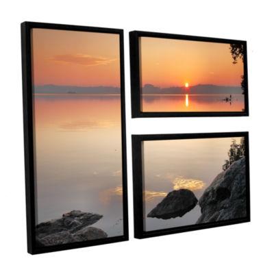 Brushstone Potomac Sunrise 3-pc. Flag Floater Framed Canvas Wall Art