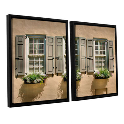 Brushstone Windows of Old Charleston 2-pc. FloaterFramed Canvas Wall Art
