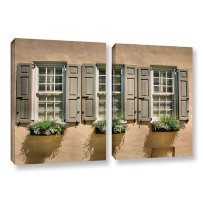 Brushstone Windows of Old Charleston 2-pc. GalleryWrapped Canvas Wall Art