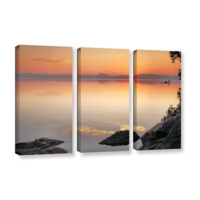 Brushstone Potomac Sunrise 3-pc. Gallery Wrapped Canvas Wall Art