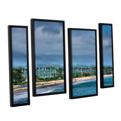 Brushstone The Beach at Santa Barbara 4-pc. Floater Framed Staggered Canvas Wall Art