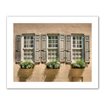 Brushstone Windows of Old Charleston Canvas Poster Wall Art