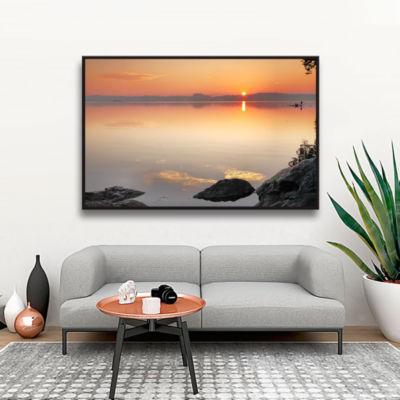 Brushstone Potomac Sunrise Gallery Wrapped Floater-Framed Canvas Wall Art