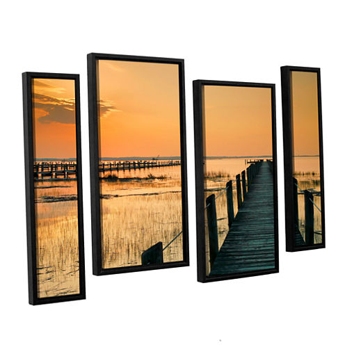 Brushstone Quiet Time 4-pc. Floater Framed Staggered Canvas Wall Art