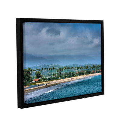 Brushstone The Beach at Santa Barbara Gallery Wrapped Floater-Framed Canvas Wall Art