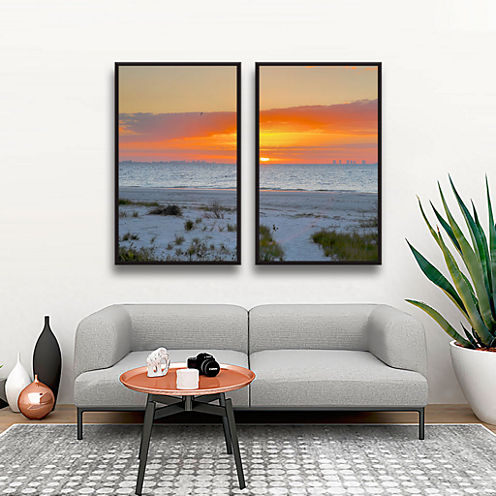 Brushstone Sanibel Sunrise IV 2-pc. Floater FramedCanvas Wall Art