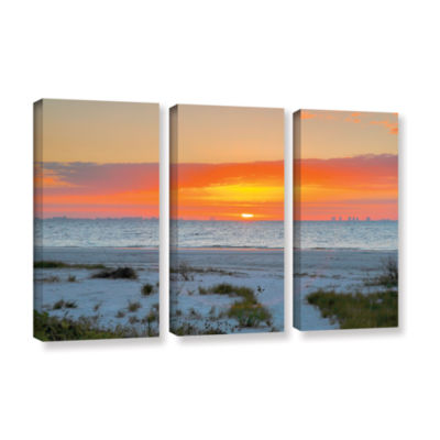 Brushstone Sanibel Sunrise IV 3-pc. Gallery Wrapped Canvas Wall Art