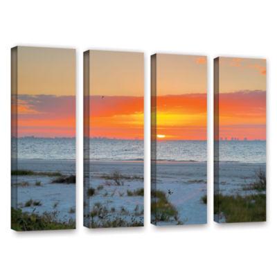 Brushstone Sanibel Sunrise IV 4-pc. Gallery Wrapped Canvas Wall Art