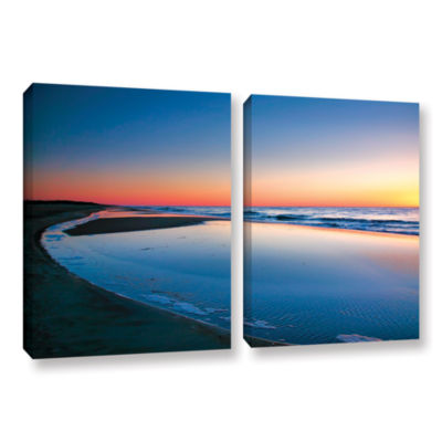 Brushstone Sea and Sand II 2-pc. Gallery Wrapped Canvas Wall Art