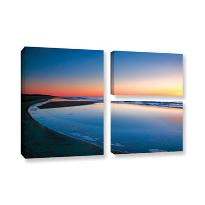 Brushstone Sea and Sand II 3-pc. Flag Gallery Wrapped Canvas Wall Art