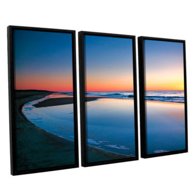 Brushstone Sea and Sand II 3-pc. Floater Framed Canvas Wall Art