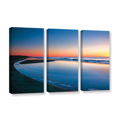 Brushstone Sea and Sand II 3-pc. Gallery Wrapped Canvas Wall Art